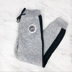 Dyce Apparel Marbled Joggers  Black & White